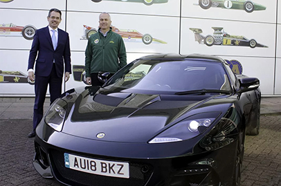 Lotus founder's son receives his new Lotus Evora GT410 Sport
