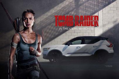 Volvo XC40, the Star of 2018 Tomb Raider movie
