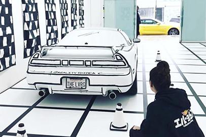 Honda NSX wrapped to create art