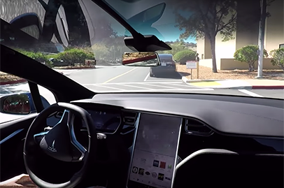Here's how Tesla's new Autopilot 2.0 system looks like when in use