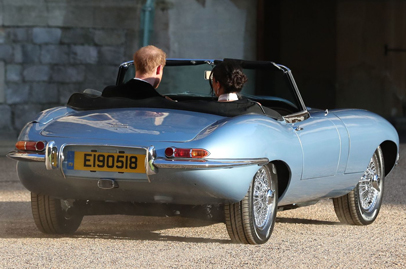 Prince Harry drove Meghan Markle in an electric Jaguar