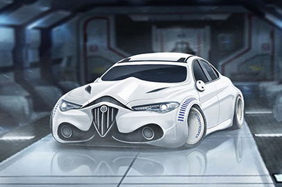 What Star Wars characters would be like if they were cars