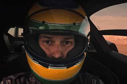 Bruno Senna has a go in the McLaren Senna