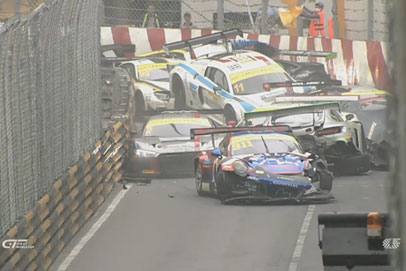 Massive 12-car pileup and death of Daniel Hegarty cast shadow on Macau GP