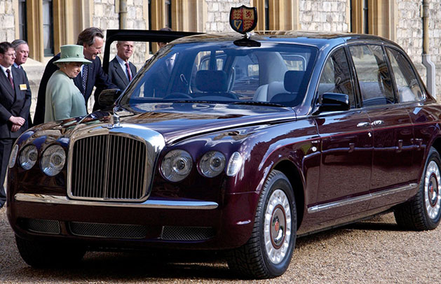At her majesty's service is an over £10 million car collection