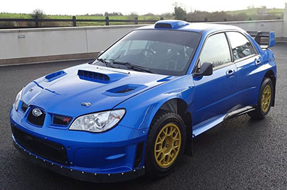 Petter Solberg's WRX rally car for sale