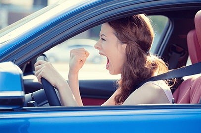Women drivers tend to be angrier than men on the road
