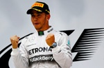 Hat-trick of wins for Hamilton and the Mercedes AMG team