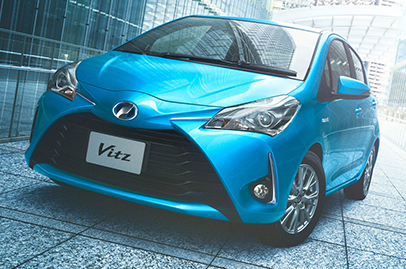 Toyota Yaris facelifted in Japan