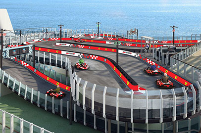 Cruise ship comes with Ferrari race track
