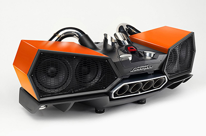 Lamborghini's carbon fiber speaker will burn a hole in your wallet