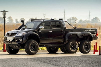 Vromos, a Bulgarian tuner, builds insane Toyota Hilux six-wheeler