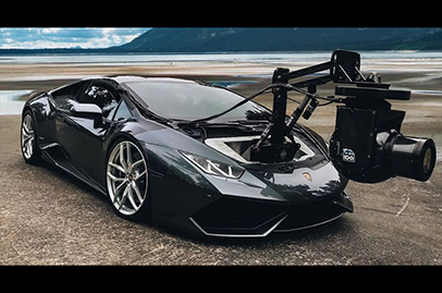 Lamborghini Huracan used as a camera car