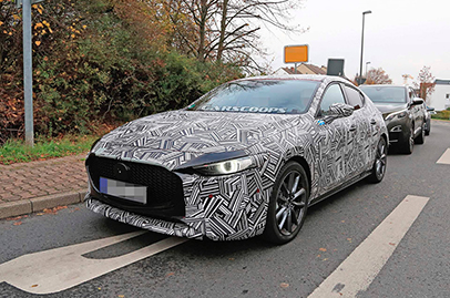 Sneak peeks for next year's new Mazda 3