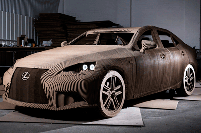 Lexus crafts working IS sedan out of cardboard with stunning details