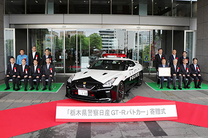 2018 R35 GT-R enters service as a patrol car in Japan