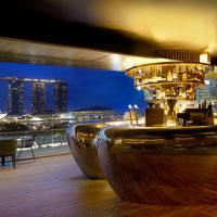 Smoke & Mirrors rooftop bar atop the National Gallery Singapore