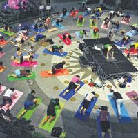 Outdoor yoga that's a breath of fresh air