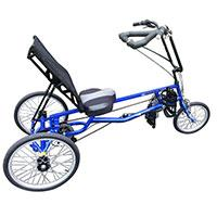 A tricycle for stroke victims and the elderly to freewheel again