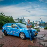 Dutchman's electric car exploits bring him to Singapore