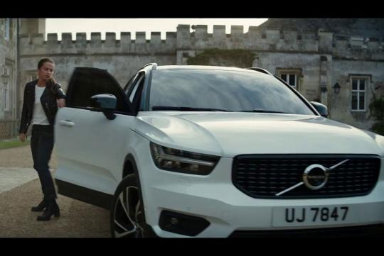 Volvo xc40 the star of 2018 tomb raider movie for Star motor cars volvo