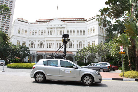 Attached Image: Google_Street_View_Car_at_Raffles_Hotel.jpg