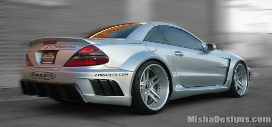 Misha Designs Widebody Kit for the Mercedes SL picture cars notes
