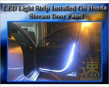 Led light strip installed on car door p for sale mcf marketplace ledlightstripinstalledonhondastreamwhitefrontleftdoorpanel1g aloadofball Images