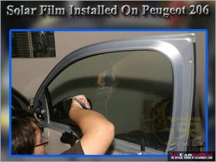 Solar Film Installed On Peugeot 206_1.jpg