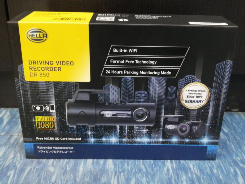 HELLA DR850 2-Ch Full HD WiFi Car Camera