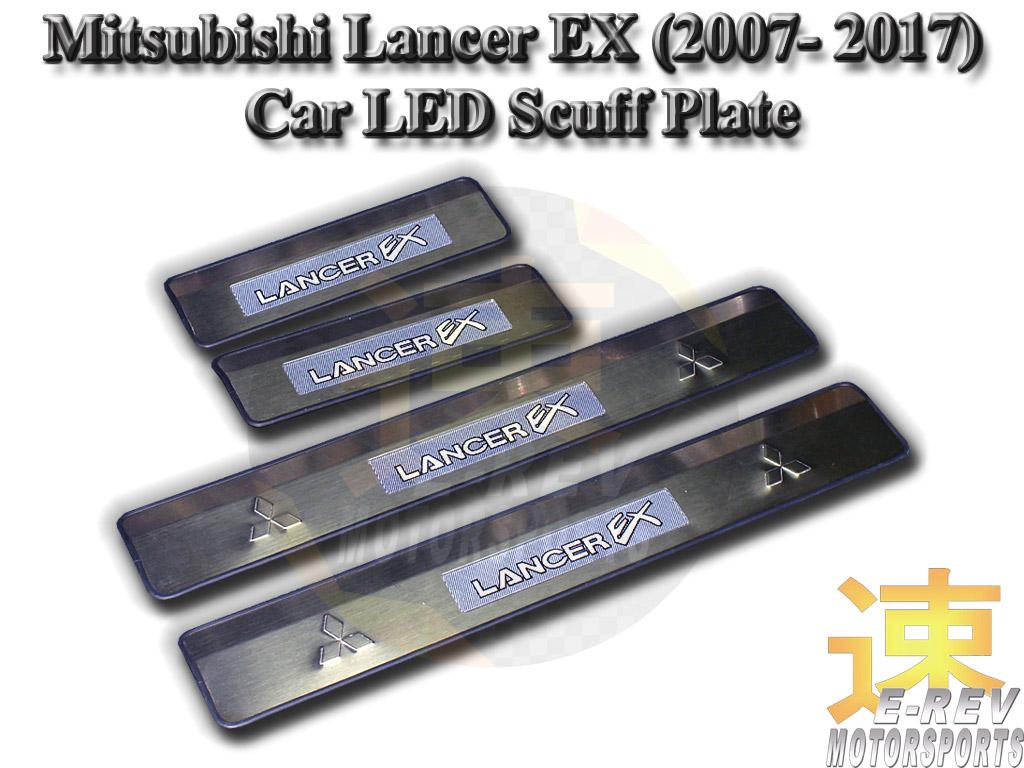 Mitsubishi Lancer EX LED Scuff Plate