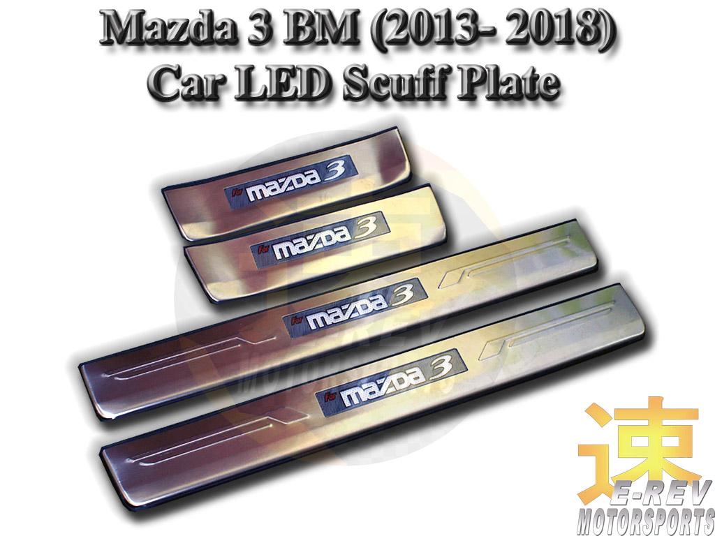 Mazda 3 LED Scuff Plate