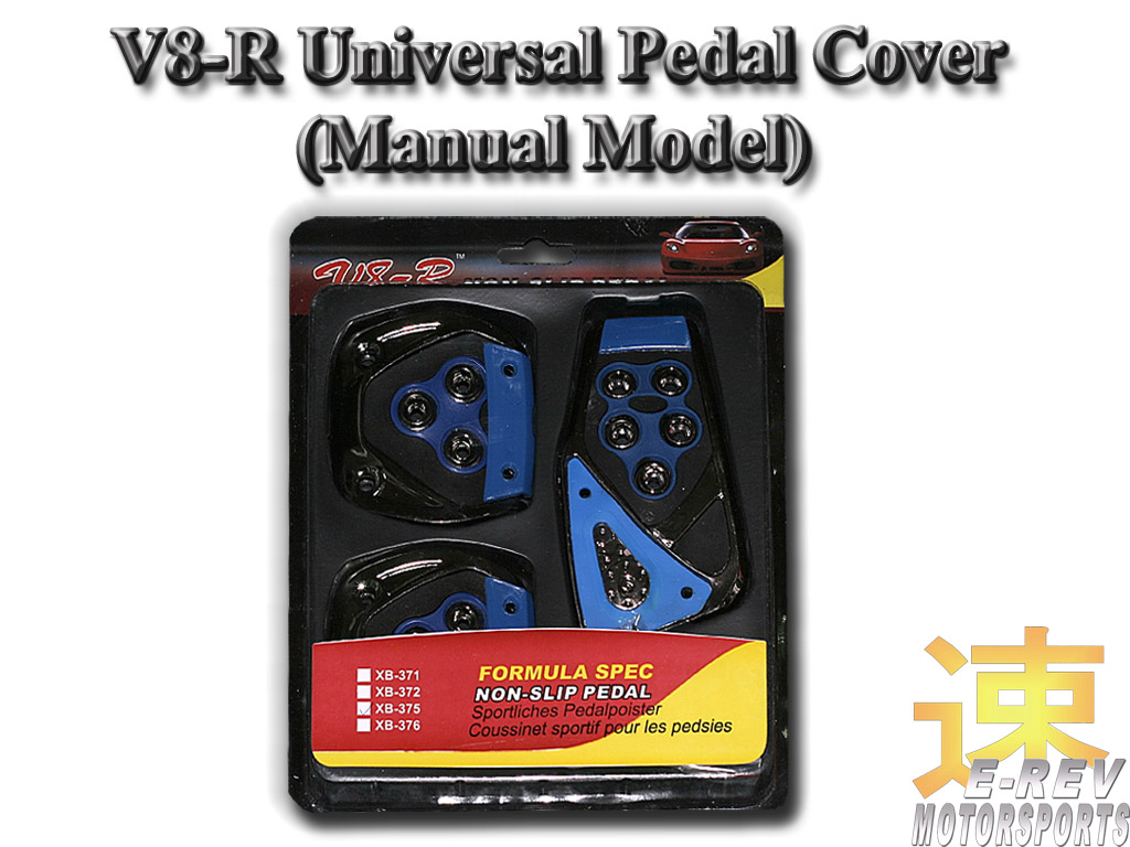 V8-R Manual Universal Car Pedal Cover (Blue)