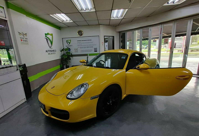 Porsche Cayman Autoshield Solar Film Package