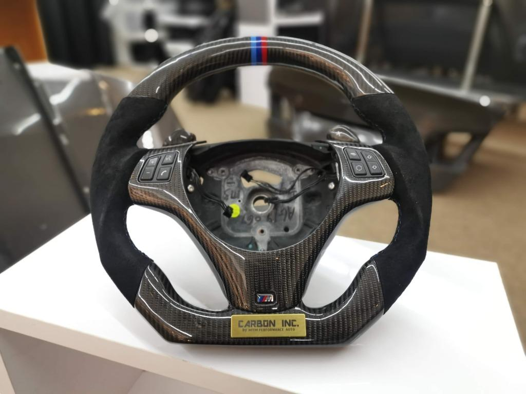 BMW E90 Carbon Fiber / Alcantara Steering Wheel With Paddle Shifters