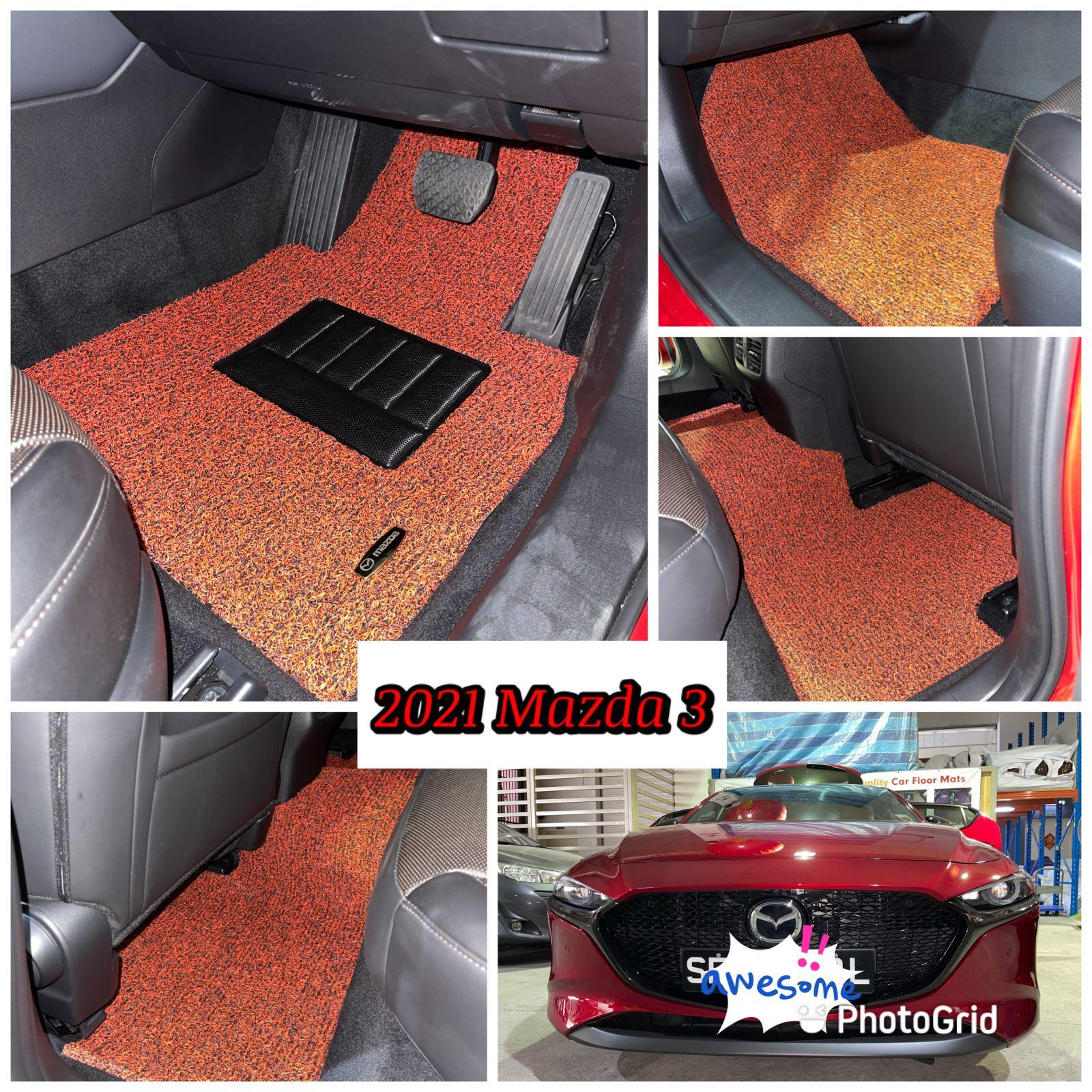Customised 2021 Mazda 3 Car Mat