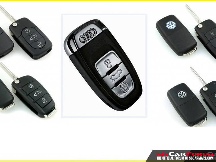 Audi / Volkswagen Flip Remote Car Key / Keyless Remote