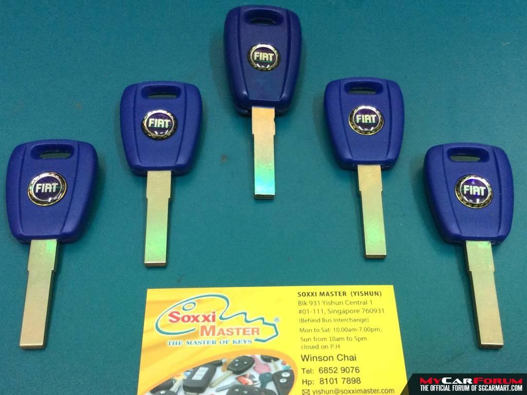 Fiat Car Transponder Key (Without Remote Function)