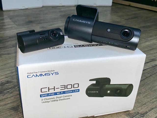 BlackSys CH300 2-Channel QHD+FHD With Built-In WIFI Car Camera