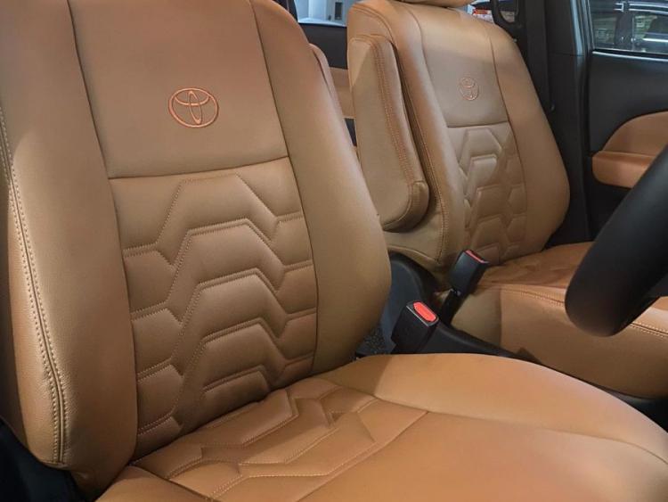 Toyota Estima Digitised Armour Insert Design Car Interior and Seat Leather Wrap