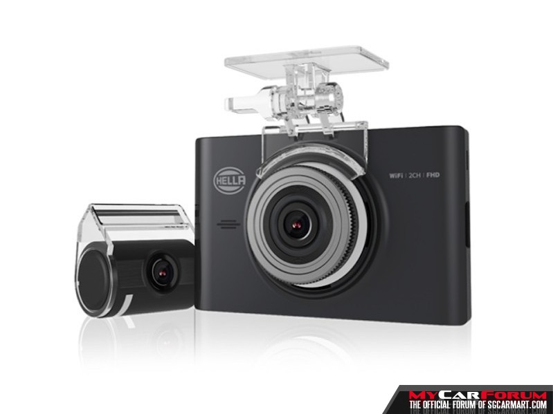 Hella DR760 2-CH Full HD Wide Angle Car Camera