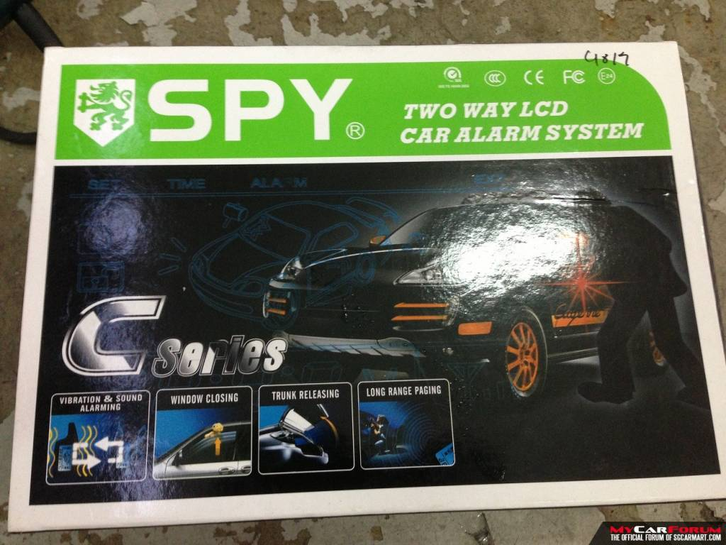 SPY C1-808 Two Way Auto Start Touchscreen LCD Alarm System