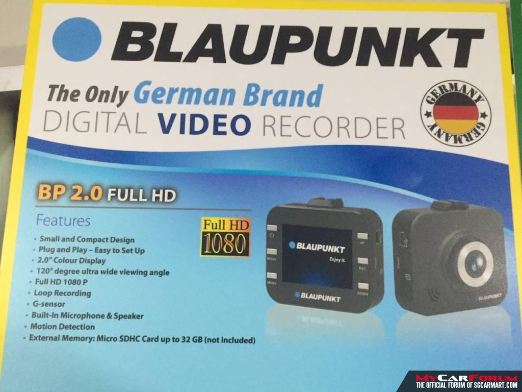 Blaupunkt BP 2.0 Full HD G-Sensor Motion Detection Car Camera