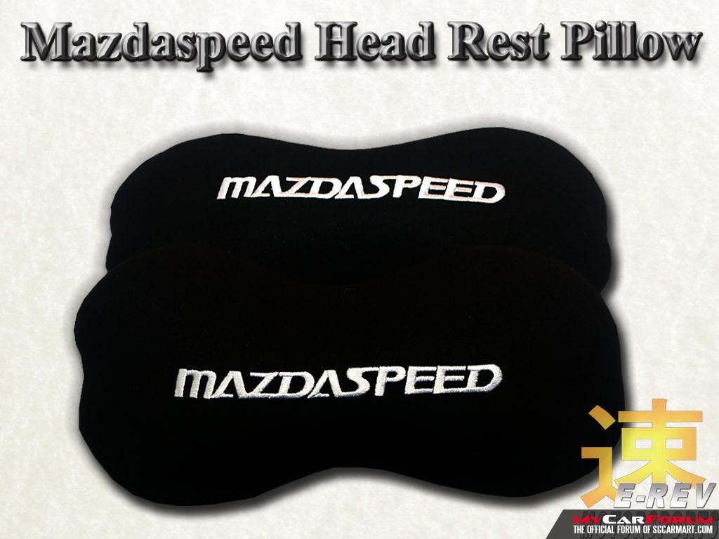 Mazdaspeed Dog Bone Head Rest