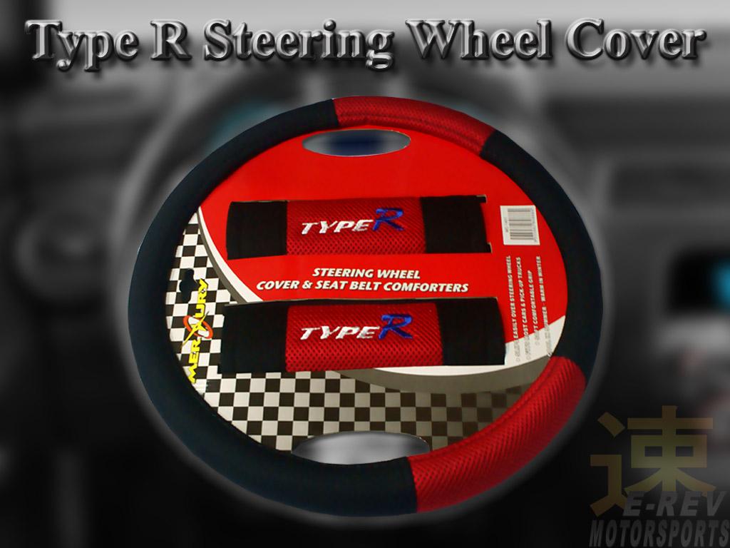 Steering Wheel Cover (Type R Red)