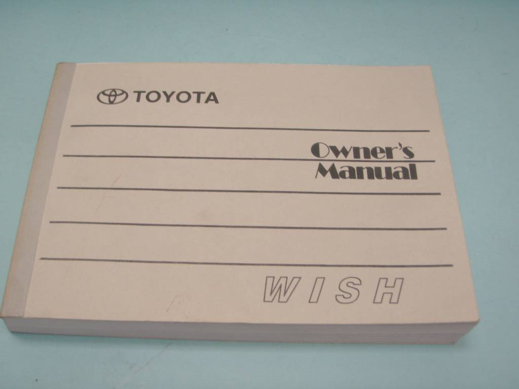 toyota wish owner s manual for sale mcf marketplace rh mycarforum com toyota wish owner's manual toyota wish 2003 owner manual pdf