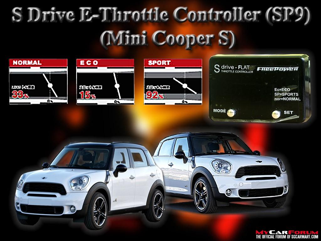 S Drive MINI Cooper E-Throttle Controller Slim SP1 - SP9