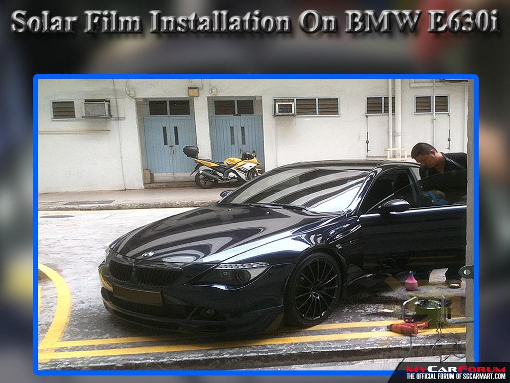 BMW 640i Solar Film Package