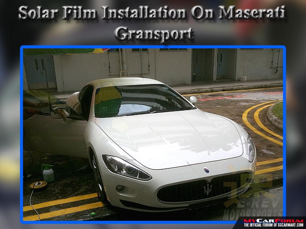 Maserati Solar Films Installation