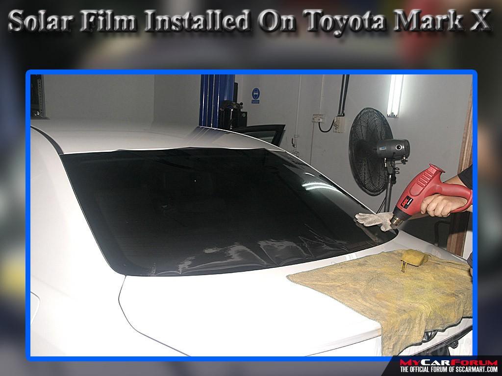 Toyota Mark X Solar Films Installation
